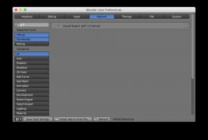 How to use the glTF™ (GL Transmission Format) on Blender